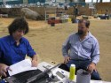 Adrian provides feedback to Nigel from Elywarra stud