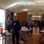 Participants at the Mudgegonga Landcare Group SFF program getting active