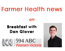 Farmer Health news on Breakfast ABC 594 Radio
