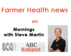Farmer Health on Mornings with Steve Martin ABC Ballarat