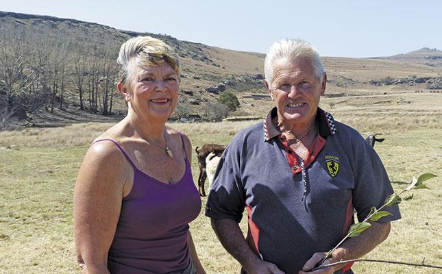 Fiona Lees and John Schenk on Ulva farm.