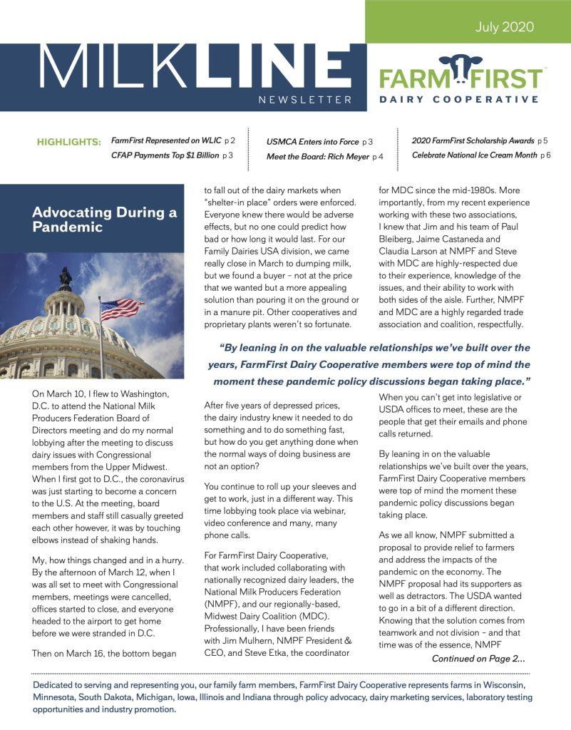July 2020 MilkLine Newsletter