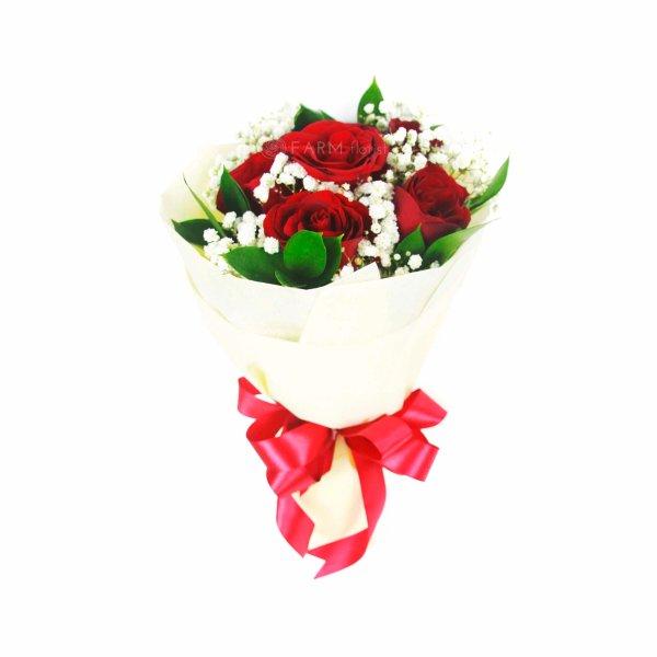 claire rose standing bouquet by farm florist singapore