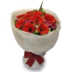 alison gerbera bouquet by farm florist