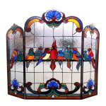 Chloe-Lighting-Aves-3-Panel-Glass-Fireplace-Screen-0