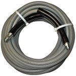 Eaglewash-I-Wrapped-Grey-Modified-Nitrile-Pressure-Washer-Hose-Assembly-38-NPT-Male-X-NPT-Male-Swivel-with-Guards-4000-psi-Maximum-Pressure-50-Length-38-Hose-ID-0