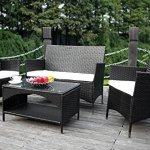 Merax-4-Piece-Outdoor-Patio-PE-Rattan-Wicker-Garden-Lawn-Sofa-Seat-Patio-Rattan-Furniture-Sets-0-0