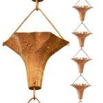 Monarchs-Pure-Copper-Angel-Blossom-Rain-Chain-8-12-Feet-Length-0