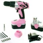 Pink-Power-PP182-18V-Cordless-Drill-Kit-for-Women-with-2-Batteries-Case-Charger-Bit-Set-0
