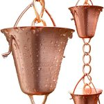 Rain-Chain-Pure-Copper-by-Golden-Canary-Ready-to-Install-in-Gutter-Decorative-Downspout-Replacement-for-Collecting-Water-in-a-Barrel-0