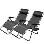 XtremepowerUS-Zero-Gravity-Chair-Adjustable-Reclining-Chair-Pool-Patio-Outdoor-Lounge-Chairs-w-Cup-Holder-0