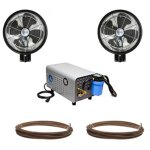 18-Oscillating-HIGH-PRESSURE-2-Misting-Fans-enclosed-Pump-and-Tubing-Wall-Mount-Misting-Kit-0