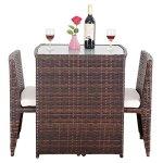 Alitop-3-PCS-Cushioned-Outdoor-Wicker-Patio-Set-Seat-Brown-Garden-Lawn-Sofa-Furniture-0-0