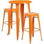 BOWERY-HILL-Round-Patio-Bistro-Set-in-Orange-0