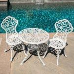 Belleze-3pc-Bistro-Set-Outdoor-Patio-Furniture-Leaf-Design-Antique-0