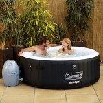 Coleman-SaluSpa-4-Person-Inflatable-Hot-Tub-Bestway-SaluSpa-DrinkSnack-Holder-0-1