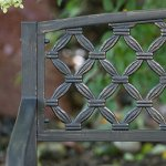 Cosmic-Furniture-Traditional-Curved-Back-Metal-Garden-Bench-Rugged-and-Rustic-Powder-Coated-Tubular-Steel-Blackened-Metal-with-a-Weathered-Bronze-Finish-Slatted-Seat-Woven-Style-Back-Classic-0-1