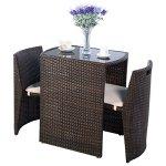 Cushioned-Outdoor-Wicker-Patio-Set-Garden-Lawn-Sofa-Furniture-Seat-3-PCS-Brown-PSG-101-0