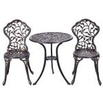 Giantex-3-Piece-Bistro-Set-Cast-Tulip-Design-Antique-Outdoor-Patio-Furniture-Weather-Resistant-Garden-Round-Table-and-Chairs-wUmbrella-Hole-0