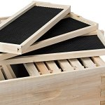 Honey-Keeper-Beehive-10-Frame-Kit-Super-Box-and-10-Deep-Frames-with-Foundations-for-Langstroth-Beekeeping-0-0