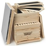 Honey-Keeper-Beehive-20-Frame-Complete-Box-Kit-10-Deep-and-10-Medium-with-Metal-Roof-for-Langstroth-Beekeeping-0-1