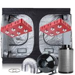 Oppolite-Indoor-Grow-Tent-Kit-Complete-Package-2XLED-1200W-COB-Grow-Light-Kit-8-Fan-Filter-Combo-120X60X80-600D-Grow-Tent-Hydroponics-Growing-System-2x-LED1200W120X60X808Ventilation-Kit-0