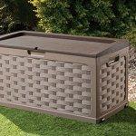 Plastic-Garden-Storage-Box-with-Sit-on-Lid-Cushion-Box-Outdoor-Storage-Wicker-Deck-Box-Rattan-Design-Color-Brown-0-2