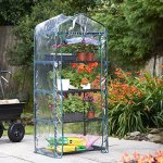 VonHaus-VD-2664GT-63-x-28-x-20-inches-4-Tier-Portable-Mini-Compact-Greenhouse-with-Clear-PVC-Cover-Unit-6-Translucent-0-1