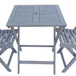 Zen-Garden-ZG011-Wood-Foldable-3-Piece-Square-Bistro-Set-Dark-Grek-Wood-Finish-Grey-0