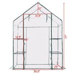 totoshop-3-Tier-House-Portable-4-Shelves-Walk-In-Greenhouse-Outdoor-New-Green-0-2