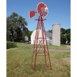 8ft-Ornamental-Garden-Windmill-Red-and-White-0