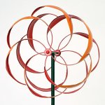 Bits-and-Pieces-Flower-Wind-Spinner-Magnificent-65-Inch-Weather-Resistant-Metal-Beautiful-Outdoor-Lawn-and-Garden-Dcor-0