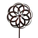 Bronze-Flower-Style-Kinetic-Wind-Garden-Spinner-0