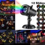 Cosway-Projector-Lamp-Night-Light-New-Design-House-Garden-Lighting-Show-with-Homdox-12-Replaceable-Lens-Colorful-Patterns-for-Party-Christmas-Halloween-Wedding-Celebration-0-0