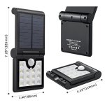 ECEEN-Solar-Light-Outdoor-Motion-Sensor-Foldable-Garden-14LEDs-IP65-Waterproof-Security-Wireless-Portable-Light-for-Wall-Driveway-Balcony-Camping-Yard-Garage-Porch-Patio-Path-Fence-RV-2-Pack-0-0