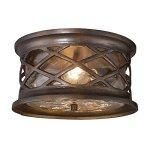 Elk-Lighting-Barrington-Gate-2-Light-Outdoor-Flush-Mount-in-Bronze-0