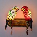 FUMAT-Tiffany-Mirror-Front-Light-Parrot-2-Heads-Wall-Lighting-Stained-Glass-E26-LEDWall-Lamp-110V-Retro-Bedside-Wall-Light-Bird-Passage-Wall-Lights-0-1