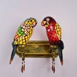 FUMAT-Tiffany-Mirror-Front-Light-Parrot-2-Heads-Wall-Lighting-Stained-Glass-E26-LEDWall-Lamp-110V-Retro-Bedside-Wall-Light-Bird-Passage-Wall-Lights-0-2