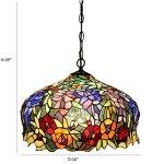 FUMAT-Tiffany-Pendant-Lights-E26-LED-Stained-Glass-Hanging-Light-Fixtures-16-Rose-Chandelier-Lighting-110V-Ceiling-Pendant-Lamp-0-0