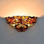 FUMAT-Tiffany-Wall-Lamp-Stained-Glass-Flower-Retro-Art-Wall-Sconce-Lighting-Fixtures-E26-2-Lights-LED-Bathroom-Mirror-Front-Light-Wall-Light-for-Bedroom-0-1