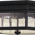 Feiss-OL5413BK-Cotswold-Lane-Outdoor-Flush-Mount-Ceiling-Lighting-Black-2-Light-12W-x-7H-80watts-0