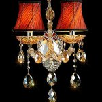 Generic-Crystals-Chandelier-2-Porch-Pendant-Lights-with-Lampshade-Color-Cognac-0-0