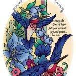 Hummingbird-Tapestry-God-of-Hope-Romans-1513-Stained-Glass-Suncatcher-MO200R-0