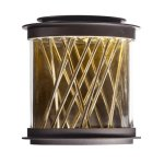 Maxim-53495CLGBZFG-Bedazzle-LED-Outdoor-Wall-Lantern-Galaxy-Bronze-French-Gold-Finish-Clear-Glass-PCB-LED-Bulb-60W-Max-Dry-Safety-Rating-Standard-Dimmable-Shade-Material-5376-Rated-Lumens-0