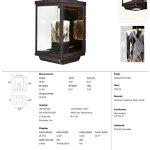 Maxim-Lighting-53526CLGBZ-Mandeville-Outdoor-Wall-Mount-LED-2-Light-Lantern-0-0