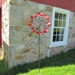 Metal-Dual-Heart-Wind-Spinner-YardGarden-Ornament-Lawn-Art-0-1