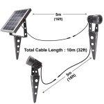 Mini-50X-Twin-Solar-Powered-LED-Spotlight-Cool-White-LED-Gunmetal-Finish-0-1