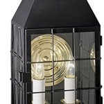 NORWELL-1093-BL-CL-American-Heritage-Wall-Fixture-Lamp-Black-Finish-0