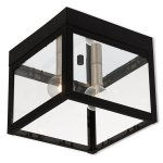 Outdoor-Post-2-Light-with-Black-Finish-Solid-Brass-Candelabra-7-inch-120-Watts-World-of-Crystal-0