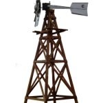 Outdoor-Water-Solutions-WTW0182-Wood-Windmill-Kit-0-0